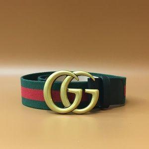 GG Stripe Gold Buckle Belt Size 85/34